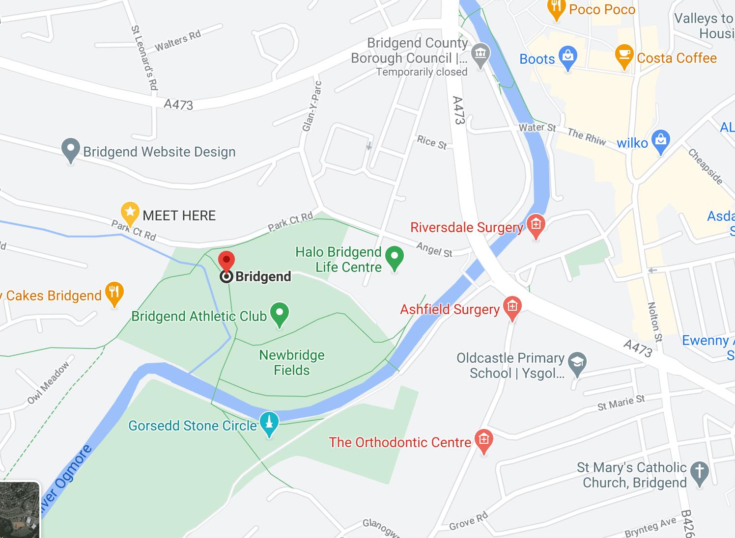 MAP NEWBRIDGE FIELDS BRIDGEND