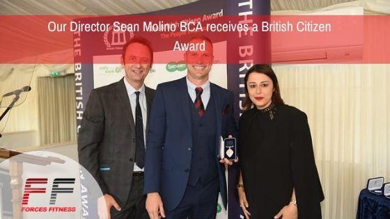Our Director Sean Molino BCA receives a British Citizen Award